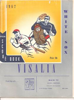 1962 Visalia White Sox Program