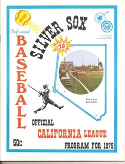 1975 Reno Silver Sox Program