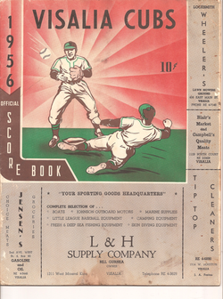 1956 Visalia Cubs Program