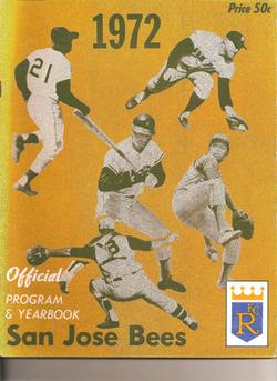 1972 San Jose Bees Program