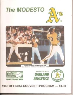 1988 Modesto As Program