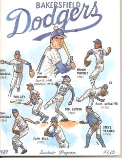 1989 Bakersfield Dodgers Program