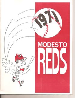 1971 Modesto Reds Program