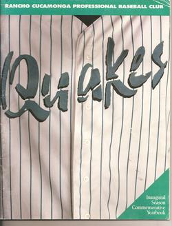 1993 Rancho Cucamonga Quakes Program