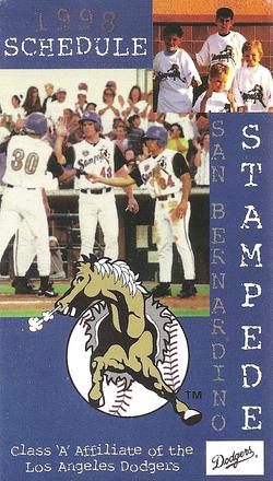 1998 San BernardinoStampede Schedule