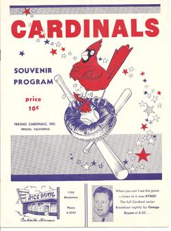 1951 Fresno Cardinals Program
