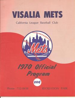 1970 Visalia Mets Program