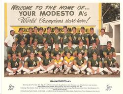 1984 Modesto As Team Photo