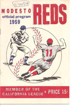 1959 Modesto Reds Program