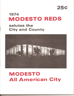 1974 Modesto Reds Program