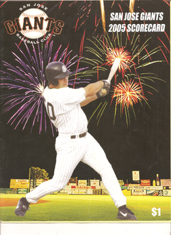 2005 San Jose Giants Scorecard