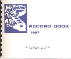 1997 California League Record Book