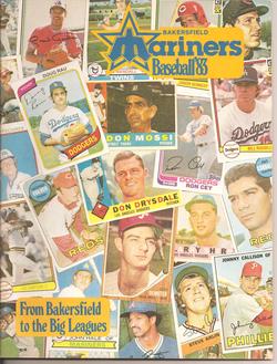 1983 Bakersfield Mariners Program