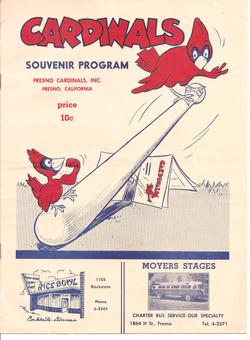 1952 Fresno Cardinals Program