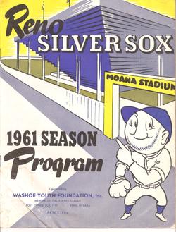 1961 Reno Silver Sox Program