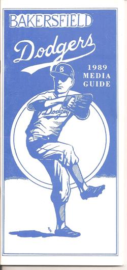 1989 Bakersfield Dodgers Media Guide