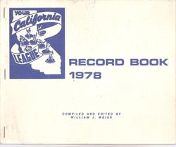 1978 California League Record Book