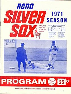 1971 Reno Silver Sox Program
