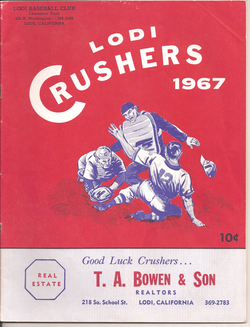 1967 Lodi Crushers Program