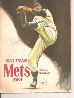 1964 Salinas Mets Program