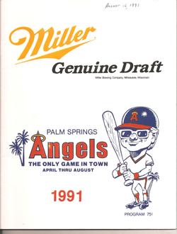 1991 Palm Springs Angels Program