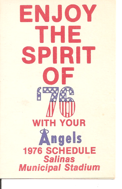 1976 Salinas Angels Schedule