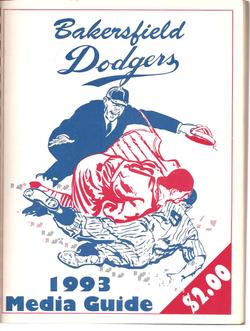1993 Bakersfield Dodgers Media Guide