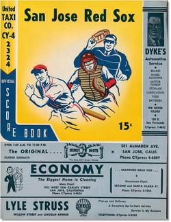 1955 San Jose Red Sox Program