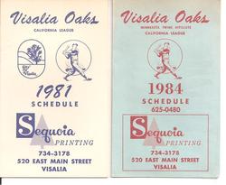 Visalia Oaks Schedules