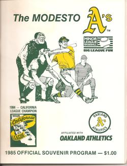 1985 Modesto As Program