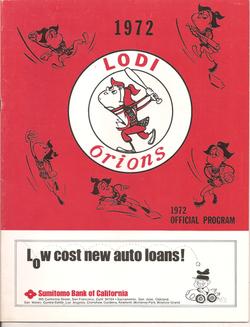 1972 Lodi Orions Program