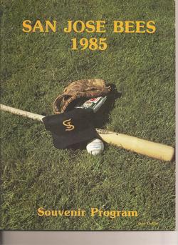 1985 San Jose Bees Program