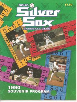 1990 Reno Silver Sox Program