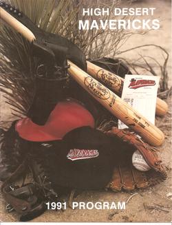 1991 High Desert Mavericks Program