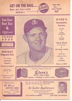 1954 San Jose Red Sox Scorebook