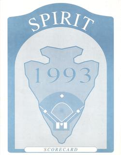 1993 San Bernardino Spirit Scorecard