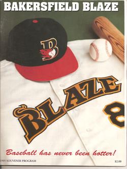 1995 Bakersfield Blaze Program