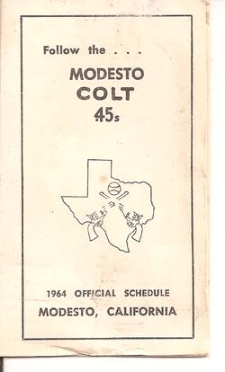1964 Modesto Colts Schedule