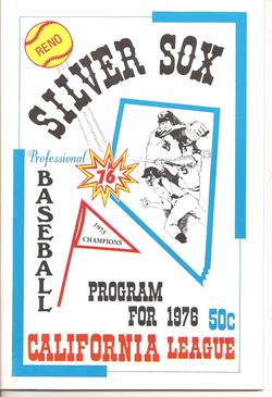 1976 Reno Silver Sox Program