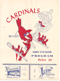 1953 Fresno Cardinals Program