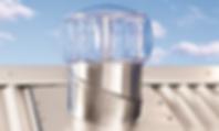 Extractor eólico doméstico en color transparente