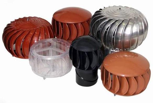 Gama de colores de los extractores eólicos domésticos