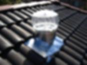 Extractor Eólico doméstico color transparente