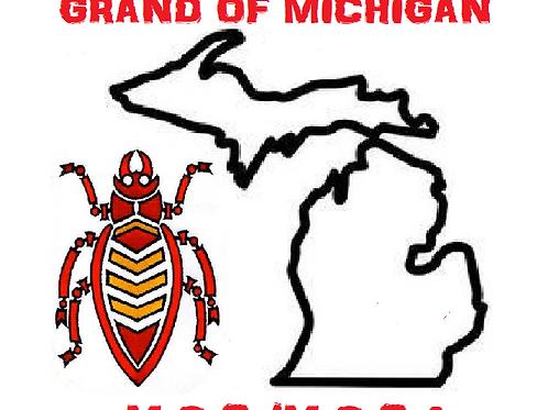 T-shirt with M.O.C./M.O.C.A. Grand of Michigan Logo