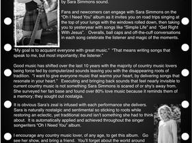 SARA SIMMONS REVIEW