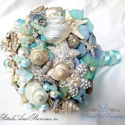 Seashell Brooch Bridal Bouquet