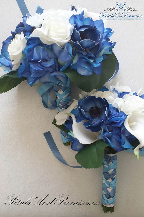 Tropical Hydrangea Real Touch Rose Bouquet