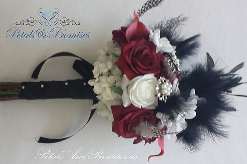 Pinup Rockabilly Brooch Feather Bouquets