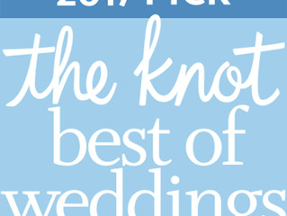 PETALS AND PROMISES EVENTS  NAMED WINNER IN THE KNOT BEST OF WEDDINGS 2017
