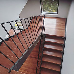 Dual stringer custom staircase  #stairca